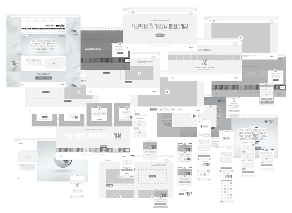 תכנון הממשקים וכלל המסכים לפעילות