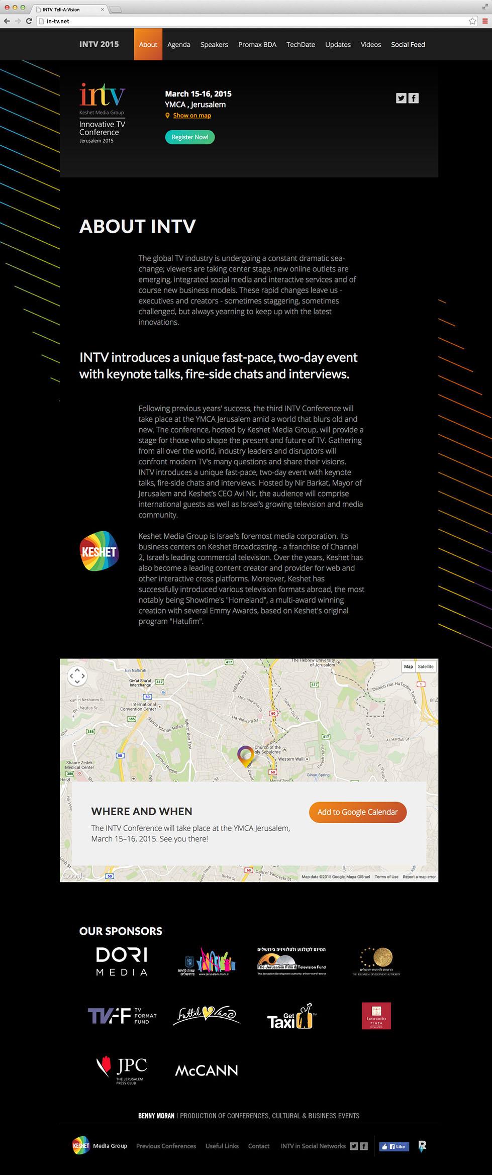 עמוד אודות הכנס בגרסת הדסקטופ, כנס INTV