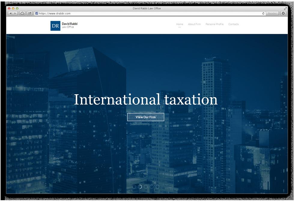 אתר האינטרנט של משרד עורכי הדין דוד רבי
