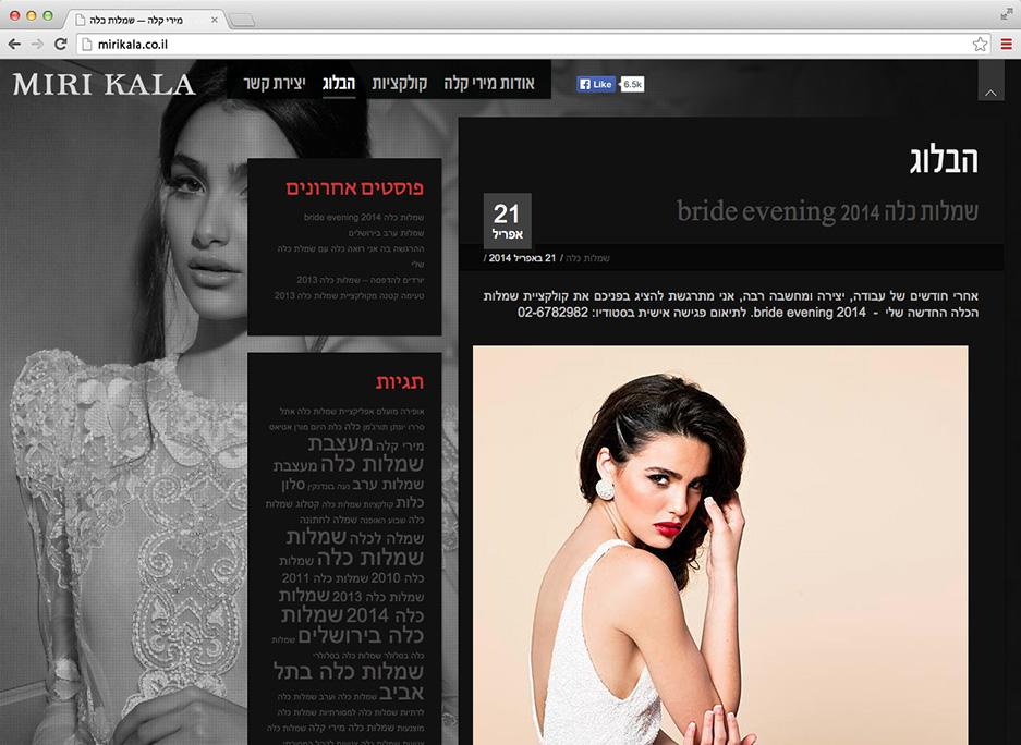 בלוג התוכן שהוקם כחלק מהליך קידום אתר האינטרנט