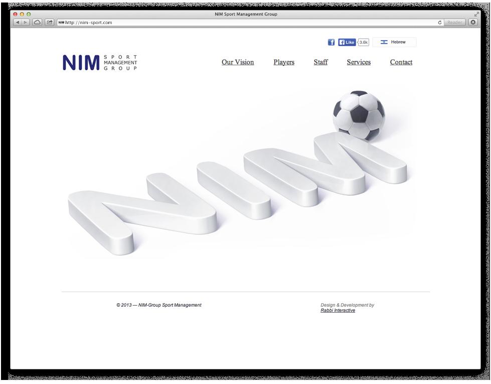 Nim Sport Group, אתר האינטרנט